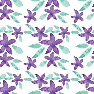 Purple Sea Stars Pattern