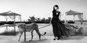 Woman with Cheetah