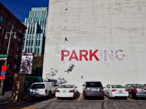 Broadway Los Angeles-graffiti attributed to Banksy