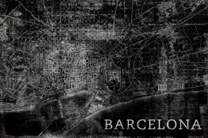 Map Barcelona Black