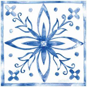 Tile Stencil I Blue