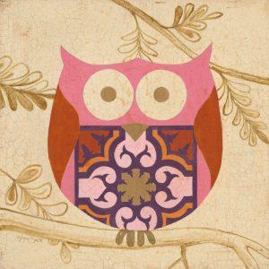 Pink Boho Owl