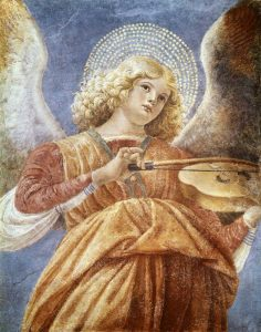 Music Making Angel with Violin