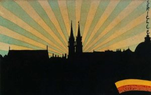 Silhouette Of Klosterneuburg 1906