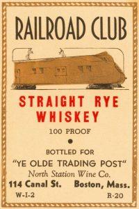 Railroad Club Straight Rye Whiskey