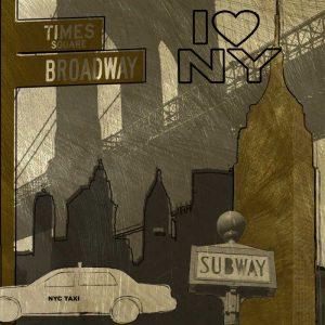 I Love NY In Gray