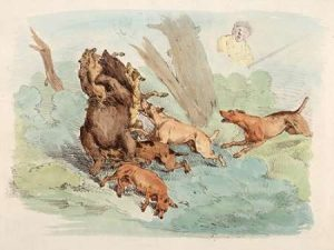 Hunting Dogs Attacking A Bear, 1817