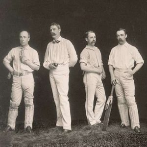 Cricket Players, Unidentified Group Of Four