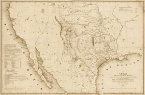 Map of Texas and the countries adjacent, 1844 – Decorative Sepia
