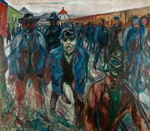 Workers on their Way Home, 1913-1914