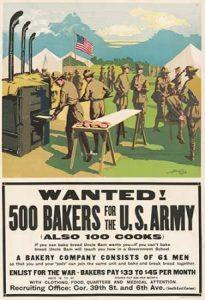 Wanted! 500 Bakers for the U.S. Army, (Also 100 Cooks), 1917