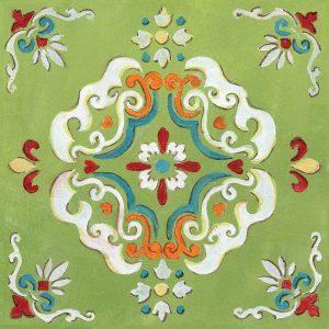 Green Bandana Mosaic