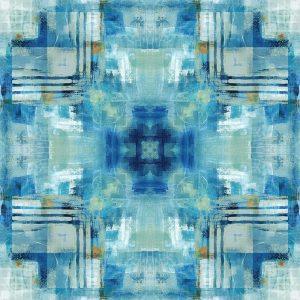 Kaleidoscope Blue Tie Dye