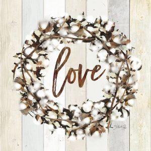 Love Cotton Wreath