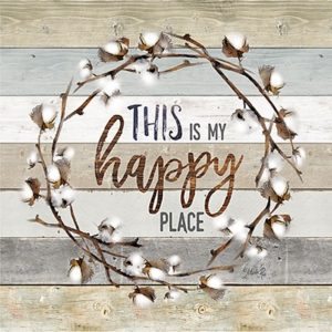 This is My Happy Place Cotton Wreath