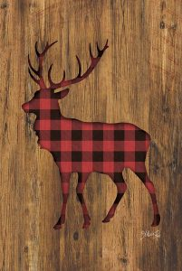 Buffalo Plaid Deer