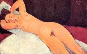 Eyes Closed Reclining Nude