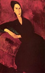 Madame Zborowski On A Sofa
