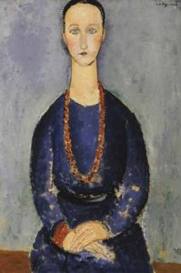 Woman With Red Necklace