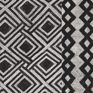 Kuba Cloth Mat III Crop BW