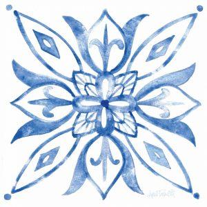Tile Stencil II Blue