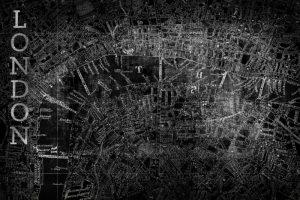 Map London Black