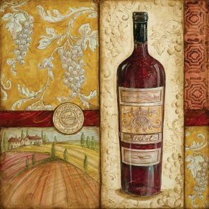 French Wine Collage