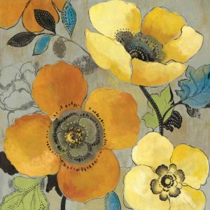 Yellow and Orange Poppies I
