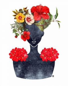Flower Crown Silhouette I