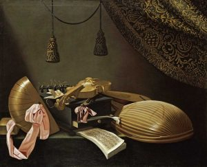 Lutes and Violin on a Table