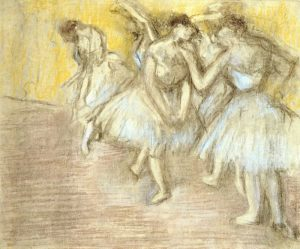 Five Dancers On Stage