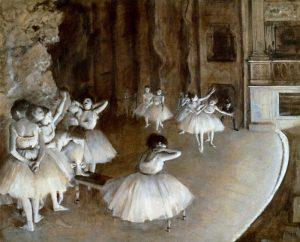 Ballet Rehearsal on the Set, 1874