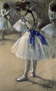 Danseuse, Dancer, Pastel/Char/Chalk