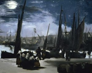 Moonlight over the Port Boulogne