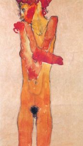 Nude Girl With Folded Arms