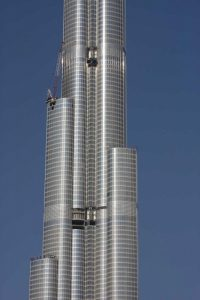 UAE, Dubai Tall skyscraper under construction