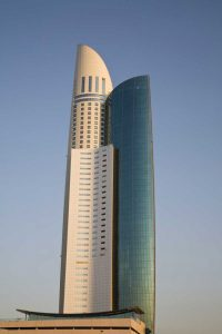 UAE, Dubai View of Park Place Tower