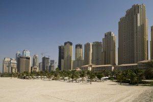 UAE, Dubai, Marina Jumeirah Beach buildings