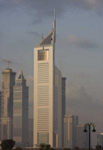 UAE, Dubai Tall Downtown city buildings