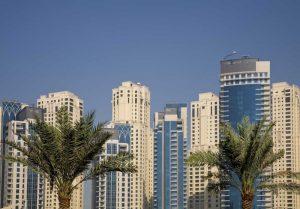UAE, Dubai Towers of Jumeirah Beach Residence