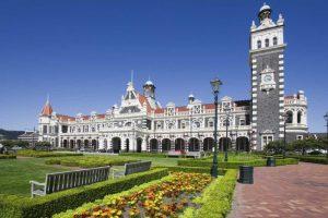 New Zealand, Dunedin Park by Railroad Station