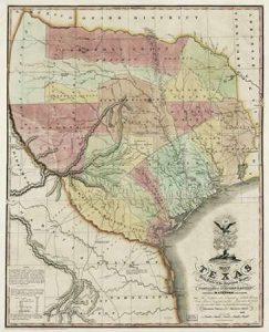 Map of Texas with parts of the adjoining states, 1837