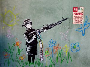 Westwood Los Angeles-graffiti attributed to Banksy