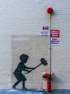 79th Street-Broadway NYC-graffiti attributed to Banksy