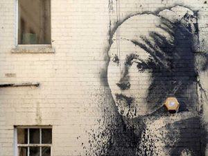 Hanover Place, Bristol (graffiti attributed to Banksy)