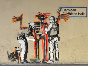 Outside Barbican Centre, London