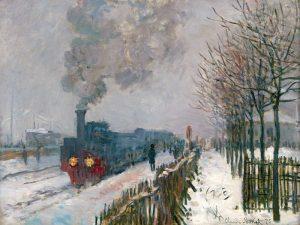 Le train dans la neige