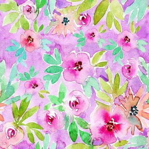 Floral Pattern – Purple Background