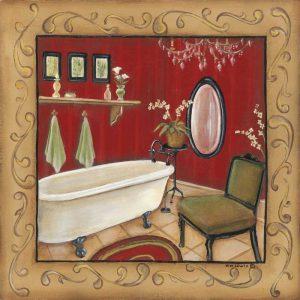 Red Bathroom Tub