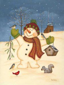Snowman Bird House